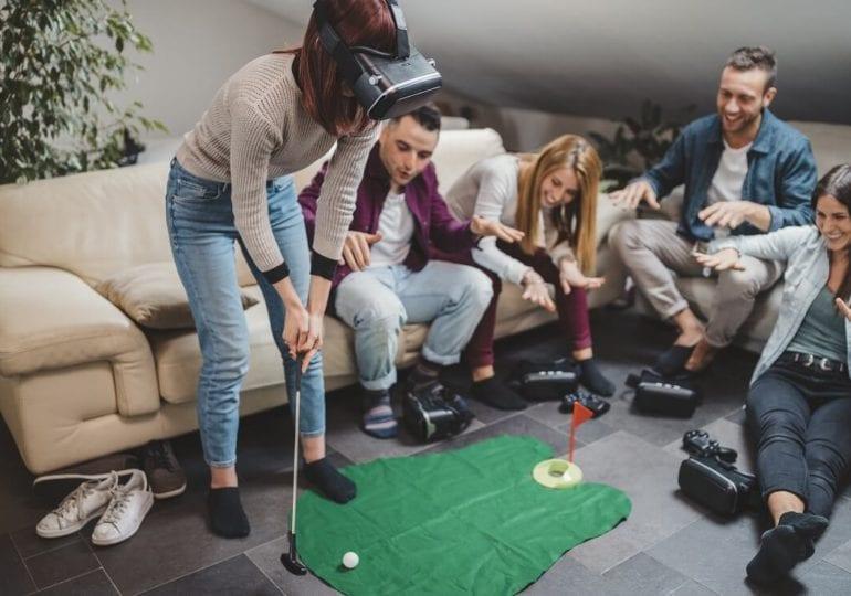 Das Golfspiel in der Virtual Reality