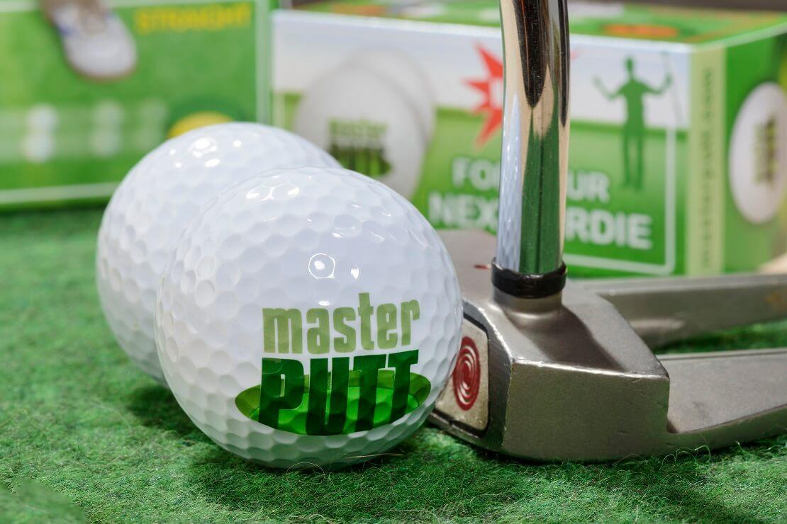 MasterPutt Bälle mit Golfschläger