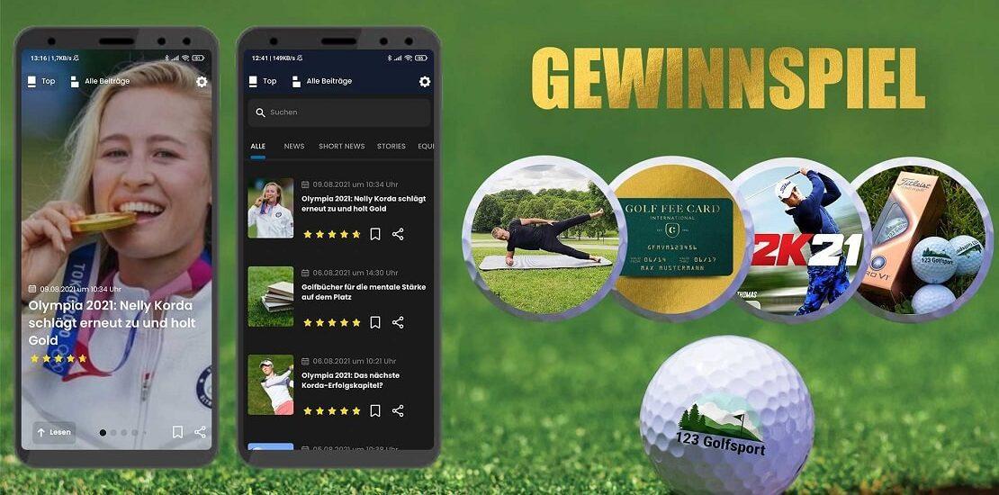 Golf überall mit der neuen App: 123golfsport feiert Launch mit großem Gewinnspiel