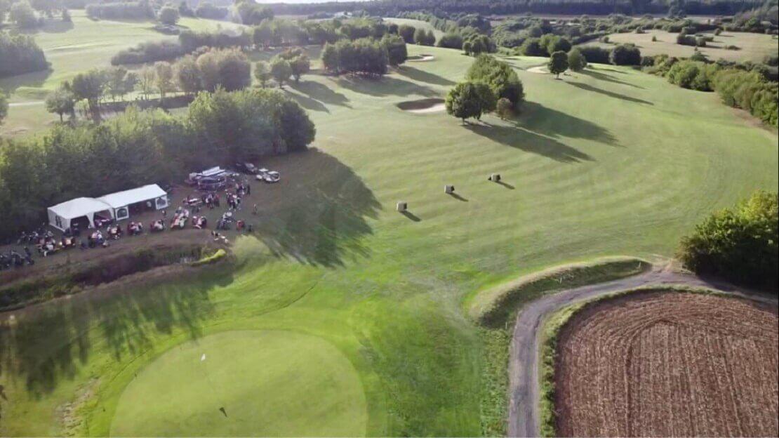 Drohnenaufnahme Loch 18 Golf Bad Münstereifel beim Triple M Cup