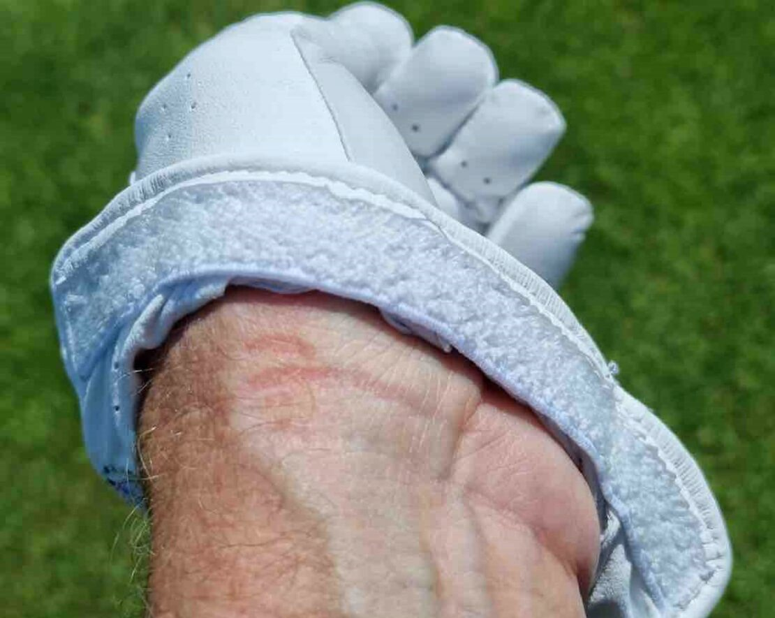 Schweißband des Mizuno Elite Golf Handschuhs